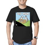 Cow Pies Men's Fitted T-Shirt (dark)