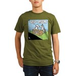 Cow Pies Organic Men's T-Shirt (dark)