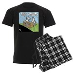 Cow Pies Men's Dark Pajamas