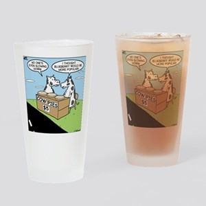 Cow Pies Drinking Glass