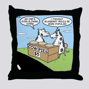 Cow Pies Throw Pillow