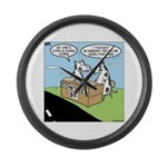 Cow Pies Large Wall Clock