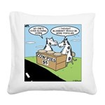 Cow Pies Square Canvas Pillow