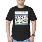 Cows in a Twister Men's Fitted T-Shirt (dark)