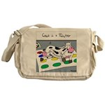 Cows in a Twister Messenger Bag
