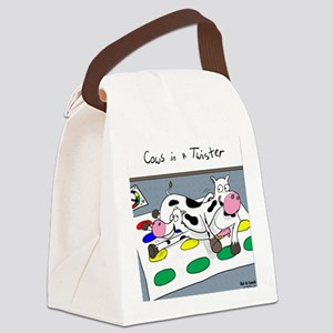 Cows in a Twister Canvas Lunch Bag