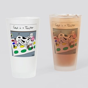 Cows in a Twister Drinking Glass