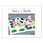 Cows in a Twister Small Poster