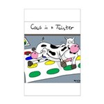 Cows in a Twister Mini Poster Print