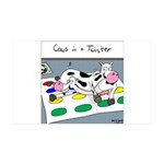 Cows in a Twister 35x21 Wall Decal