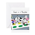 Cows in a Twister Greeting Cards (Pk of 10)