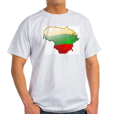 """Lithuania Bubble Map"" Light T-Shirt"