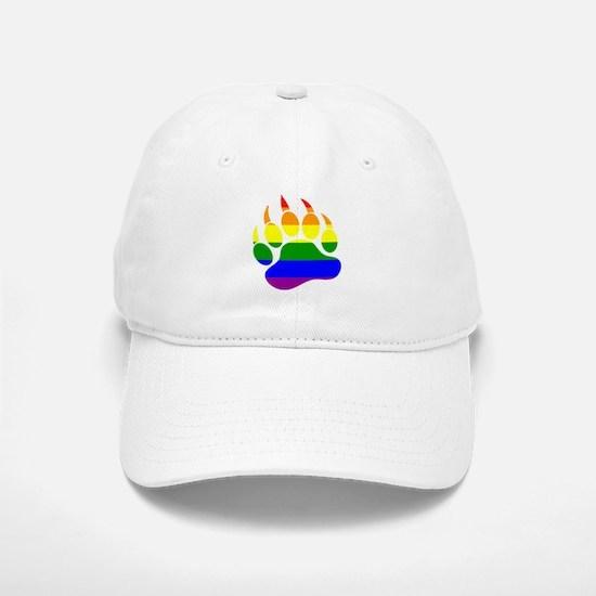GAY Bear Rainbow Paw Baseball Baseball Cap
