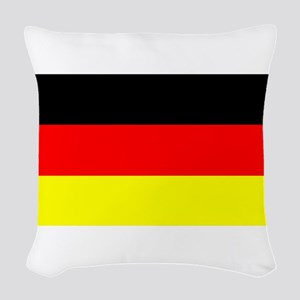 Flag Germany Woven Throw Pillow