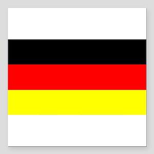 "Flag Germany Square Car Magnet 3"" x 3"""