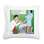 Dentist Speak Square Canvas Pillow