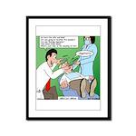 Dentist Speak Framed Panel Print