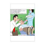 Dentist Speak Mini Poster Print
