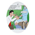 Dentist Speak Ornament (Oval)