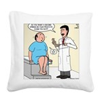 Prostate Second Opinion Square Canvas Pillow
