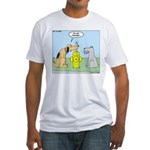 Dog Messaging Fitted T-Shirt