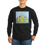 Dog Messaging Long Sleeve Dark T-Shirt