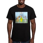 Dog Messaging Men's Fitted T-Shirt (dark)