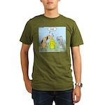 Dog Messaging Organic Men's T-Shirt (dark)