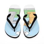 Dog Messaging Flip Flops