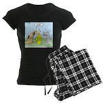 Dog Messaging Women's Dark Pajamas
