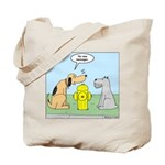 Dog Messaging Tote Bag