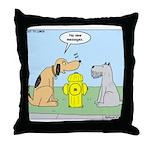 Dog Messaging Throw Pillow