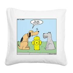 Dog Messaging Square Canvas Pillow