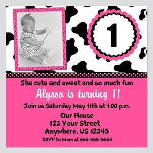 cow birthday invitations and announcements cafepress