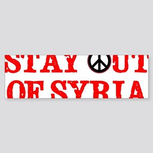 Stay out of syria Sticker (Bumper)