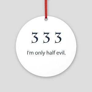 Half Evil Ornament (Round)