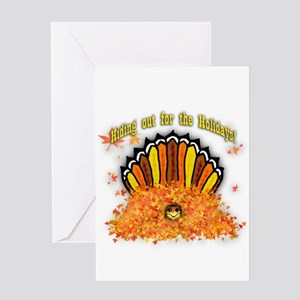 Hiding out Turkey Greeting Cards