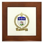 ST. COEUR Family Crest Framed Tile
