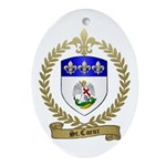ST. COEUR Family Crest Oval Ornament