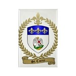 ST. COEUR Family Crest Rectangle Magnet