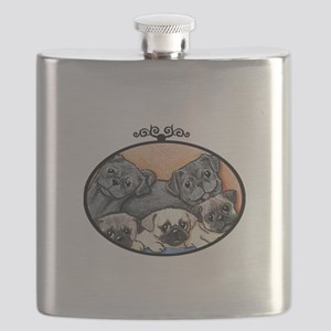 Pug Party Flask
