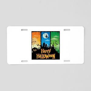 Happy Halloween Aluminum License Plate