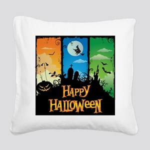 Happy Halloween Square Canvas Pillow