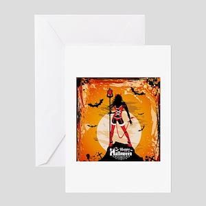 Halloween Vixen Greeting Cards