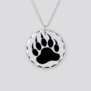 GAY BEAR PRIDE Gay Bear Paw Necklace Circle Charm
