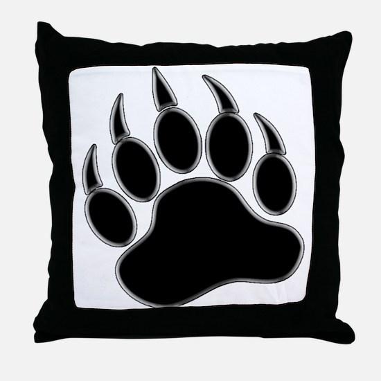 GAY BEAR PRIDE Gay Bear Paw Throw Pillow