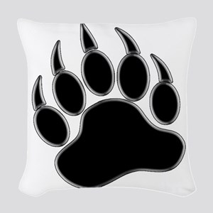 GAY BEAR PRIDE Gay Bear Paw Woven Throw Pillow