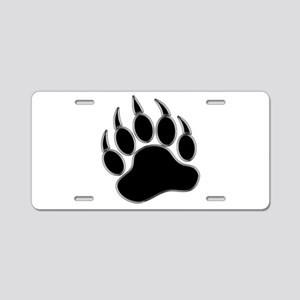GAY BEAR PRIDE Gay Bear Paw Aluminum License Plate