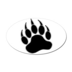 GAY BEAR PRIDE Gay Bear Paw Wall Decal