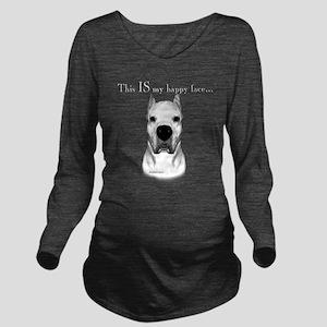 Dogo Happy Face dark Long Sleeve Maternity T-Shirt